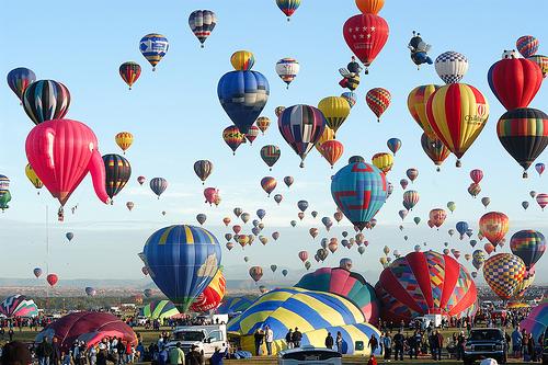 lễ hội khinh khí cầu ở Mỹ 1