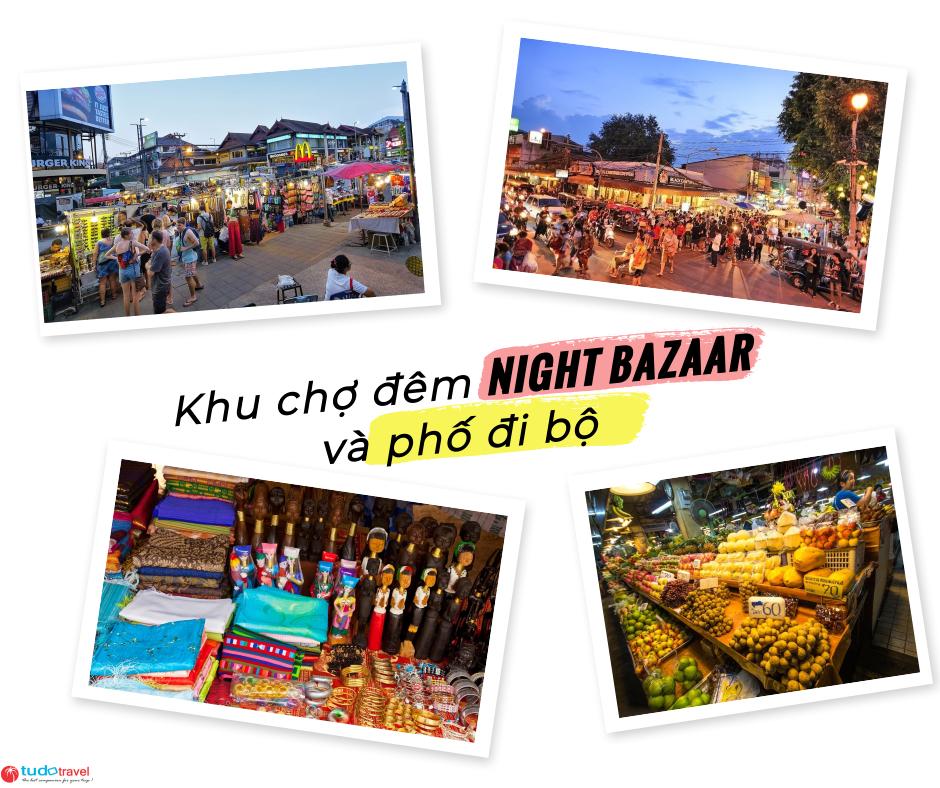 khu chợ đêm night bazaar và phố đi bộ