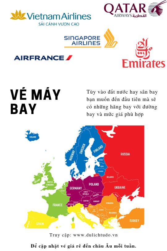 vé máy bay đến châu Âu