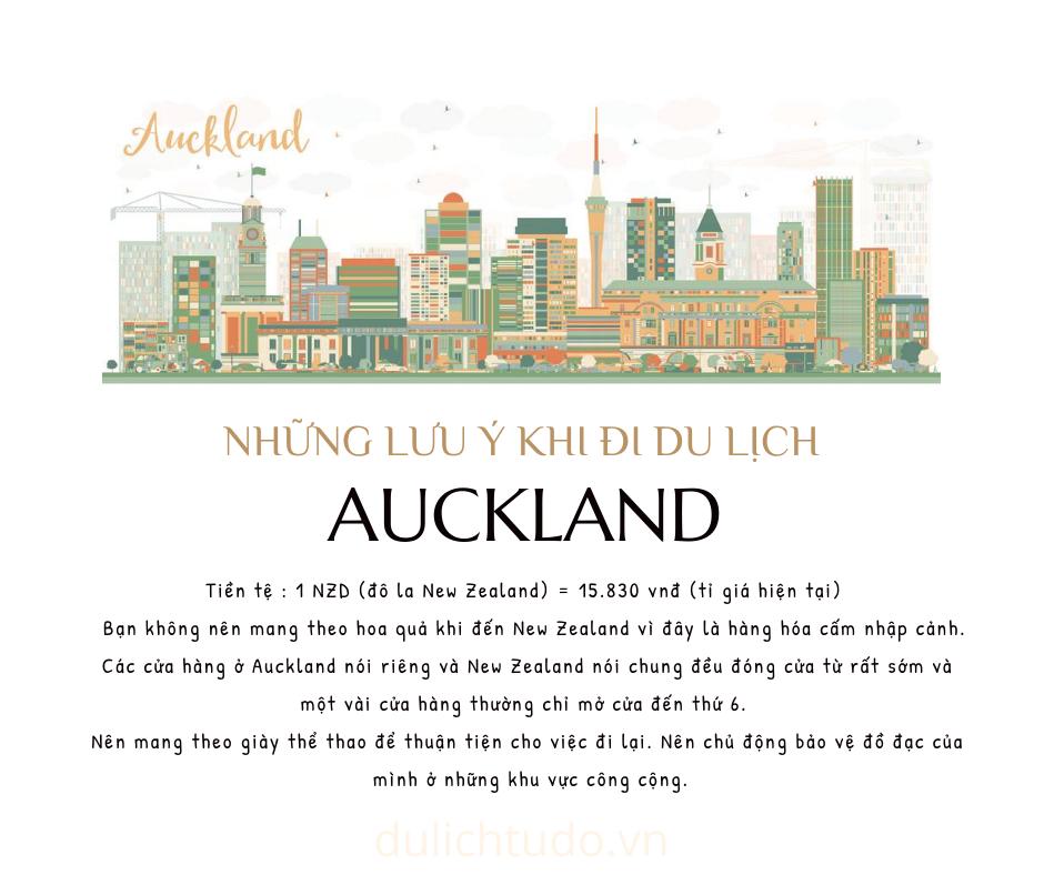 những lưu ý khi đi Auckland