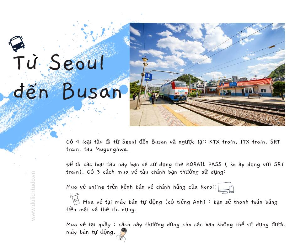 từ seoul đến busan