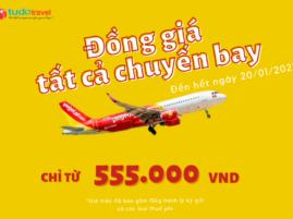 Khuyến mãi Viejtet bay đồng giá 555.000 VND