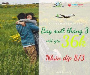 Khuyến mãi vé máy bay Bamboo tháng 3