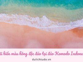 Bãi biển hồng Indonesia